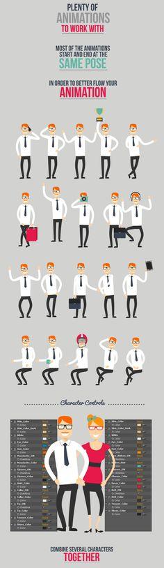 Character Design Animation Toolkit by Premiumilk ., via Behance