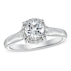 1 CT. T.W. Celebration 102™ Diamond Engagement Ring in 18K White Gold (I/SI2) - View All Rings - Zales