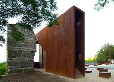 Szathmáry Palace, MARP, Tettye, Pecs, Hungary, Corten, weathering steel, daylighting, green design, sustainable design, eco-design