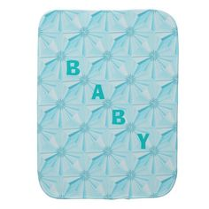 Christmas Star Turquoise Baby Burp Cloth by Janz