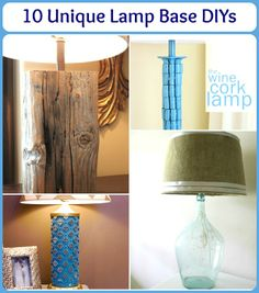 10 Unique Lamp Base DIYs and Makeovers!