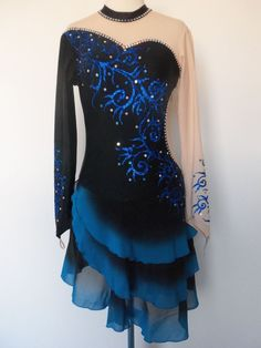 CUSTOMIZED NEW FIGURE DANCE ICE SKATING DRESS