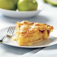 Apple Pie - baked in a buttery crust and filled with cinnamon apples.  Perfect for fall.