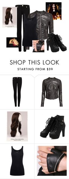 """""""Clary Fray"""" by amylightwood ❤ liked on Polyvore featuring True Religion, H&M, WigYouUp, Juvia and Urstadt.Swan"""