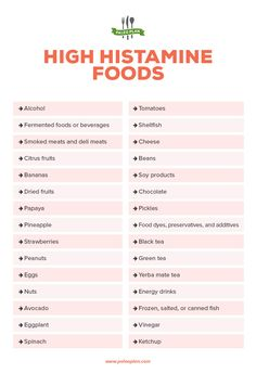 Histamine intolerance is not an allergy to histamine itself, but a sign that the body has too much histamine. Here histamine intolerance symptoms. Anti Histamine Foods, Histamine Intolerance Symptoms, Asthma Symptoms, Food Allergy Symptoms, Peanut Allergy, Allergy Relief, Migraine Diet, Migraine Relief, Rv Camping