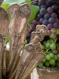 .Can't help loving antique silver flatware...admit it...these are like jewelry for the table.