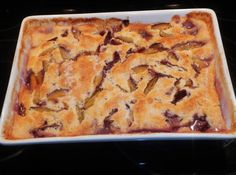 """My friend dropped off some plums from the garden market. This is just what I was waiting for. I had a taste to make my recipe, """"BLUEBERRY COBBLER"""" on JAP, but using plums instead. Actually using any fruit or berries would work very well. This recipe is different than most cobblers, hope you will give it a try, I am sure you will love this version. My friends say from 1 to 10 it is a 10 plus! Luv them gals. What do you think? Now back to painting the wall. Nancy. 9/14/13 Pudding Recipes, Fruit Recipes, Cake Recipes, Dessert Recipes, Plum Recipes Vegan, Dessert Healthy, Cheap Recipes, Shrimp Recipes, Pastries"""