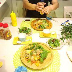 cooking_yukiko#夕飯#晩御飯#ふたりごはん#2人ごはん#ふうふごはん#夫婦ごはん#おうちごはん#お家ごはん#チルウィッチ#素麺チャンプル#サラダ#ヨーグルト#マーガレット#スタジオm