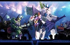 Decepticon Music Band: Megatron, Starscream, Demolisher, Cyclonus, Scorponok, Shockwave and Sixshot (Transformers Energon 2)
