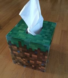 Minecraft tissue box cover