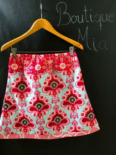 A-line SKIRT - Amy Butler - Duckegg - Made in ANY Size - Boutique Mia