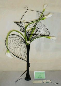 Minimal cally lily floral arrangement.