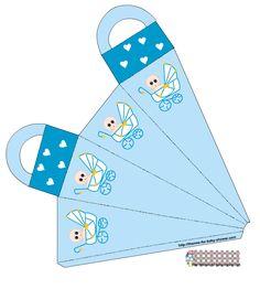 Bebé en Cochecito: Mini Kit para Baby Shower de Niño.