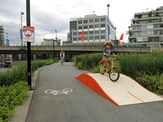Thinking of biking areas, maybe towards Traxler?  maybe at Traxler?  Obstacle Course Ramp Creates A Playful Commute For Cyclists [Pics]