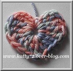 Crochet : mini heart / mini coeur avec tutoriel