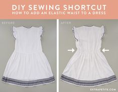 DIY sewing adding an elastic waistband to a dress tutorial #refashioning