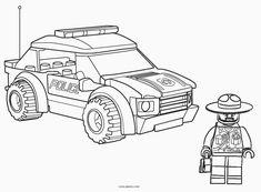Lego Police Sheriff Coloring Pages Malvorlagen Lego Police Sheriff. Lego Police Truck, Lego City Police Station, Lego Ambulance, Lego Truck, Ninjago Coloring Pages, Truck Coloring Pages, Coloring Pages To Print, Coloring Books, Lego Ninjago