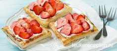 Fruit party puff pastries 24 ideas for 2019 Dutch Recipes, Sweet Recipes, Baking Recipes, Snack Recipes, Dessert Recipes, Snacks, Healthy Desserts, No Bake Desserts, Delicious Desserts