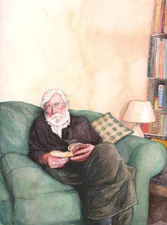 A veces, leyendo, nos dormimos (ilustración de Hannah Cumming)