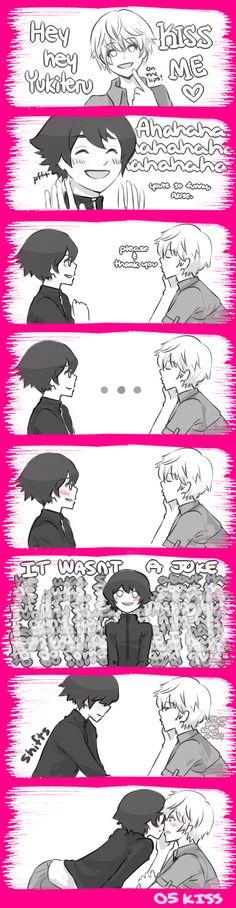 Wait, it wasn't a joke? by: kkapril on deviantart. Akise x Yukki, Mirai Nikki