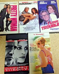 Julia Roberts VHS Lot 5 Pretty Woman Runaway Bride Conspiracy Theory I Love Tro  | eBay