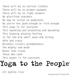 Best yoga in NYC- yoga to the people. Miss this class!!