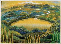 Civitanova Marche: Pinacoteca Moretti - Gerardo Dottori, Paesaggio umbro #ndm13 #nottedeimusei