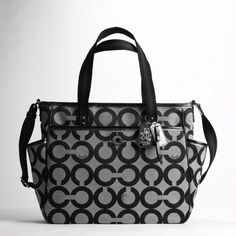 Coach diaper bag! Super cute and chic