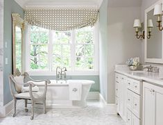 Want this tub- love the look of the bathroom too.
