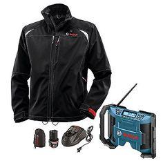 Bosch Tools Mens 12V Max Heated Jacket - XL w/ Jobsite Radio PSJ120XL-102 New