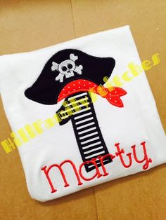 Hey, I found this really awesome Etsy listing at https://www.etsy.com/listing/252845520/pirate-birthday-shirt