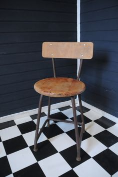 Vintage Industriehocker / vintage chair, industrial style by CasaCascino via DaWanda.com