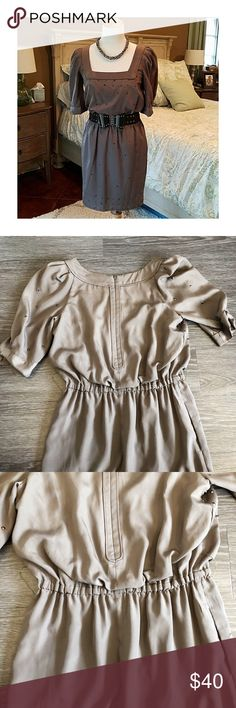 Jessica Simpson dress with puffy sleeves - new, never worn  - olive color dress with puffy sleeves and elastic waist  💛Product color may slightly vary due to photographic lighting sources or your monitor settings  ✅I DO love OFFERS 😆 ❎No returns  ❎No trades  💖Feel welcome to check out everything else in my closet, and bundle them together ☺️ Jessica Simpson Dresses Maxi