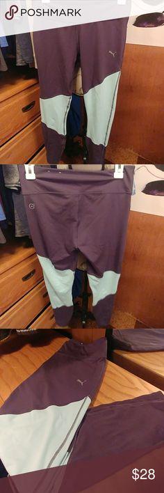 Puma Yoga Leggings Dark grey & light sky blue. Puma Pants Track Pants & Joggers