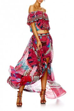 Camilla - Desert Discotheque Short Skirt W/ Full Overlay