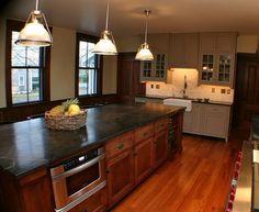 kitchen design ideas beautiful soapstone countertop kitchen lighting ideas white brown cabinets