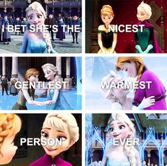 "Frozen - Queen Elsa - ""I bet she's the nicest, gentlest, warmest person ever! Frozen Disney, Frozen And Tangled, Elsa Frozen, Disney Magic, Frozen Fan Art, Frozen Queen, Elsa Olaf, Frozen Heart, Disney And Dreamworks"