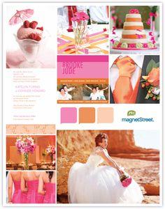 Pink and orange color pallet