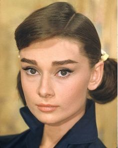 """Audrey Hepburn on the set of """"Love in the Afternoon"""""""