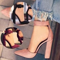 205e03ca7b 17 Best Thick heels pumps images | Beautiful shoes, Fashion Shoes ...