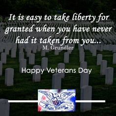Happy #VeteransDay! And let us never forget those who serve and sacrifice to keep us free.