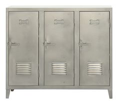Vestiaire bas Storage Satin steel by Tolix - Design furniture and decoration with Made in Design