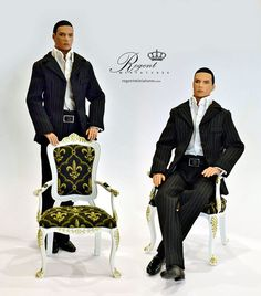 1:6 scale Homme  Perfect for Barbie, Fashion Royalty or Hot Toys dolls. Any doll that is 12 inches in height.  Visit my web site for more details at www.regentminiatures.com/ or click the folder for more details.