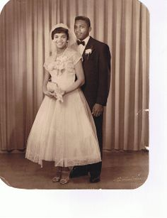1950's newlyweds (Source: blackloveisabeautifulthing)
