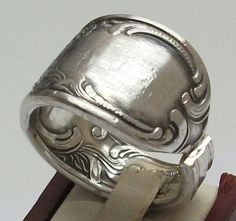 Antik Besteck Ring, sehr breit Gr. 23,5 mm, SR196 von Atelier Regina auf DaWanda.com