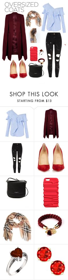 """""""Untitled #11"""" by leandra75 ❤ liked on Polyvore featuring FAIR+true, WithChic, River Island, Christian Louboutin, Lancaster and Burberry"""