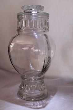 Vintage Clear Gl Candy Jar By Losttreasures2u On Etsy Jars Bottles