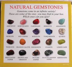 Natural Gemstones Selection Box of 25 Samples | Learn Heaps