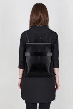 Minimal Backpack - chic style, contemporary bag design // Asya Malbershtein