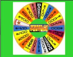 Smartboard Wheel of Fortune Review Game